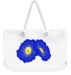 Two Morning Glories Weekender Tote Bag
