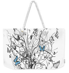Weekender Tote Bag featuring the digital art Two Of A Kind  by Sladjana Lazarevic