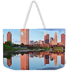 Weekender Tote Bag featuring the photograph Two Of Everything by Frozen in Time Fine Art Photography