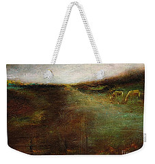Weekender Tote Bag featuring the painting Two Palominos by Frances Marino