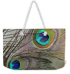 Two Peacock Feathers Weekender Tote Bag