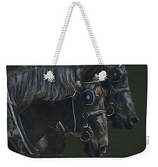 Two Percherons Weekender Tote Bag
