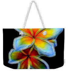 Two Plumerias Weekender Tote Bag by Pamela Walton