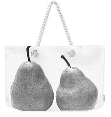 Weekender Tote Bag featuring the photograph Two Plump Pears by Kathi Mirto