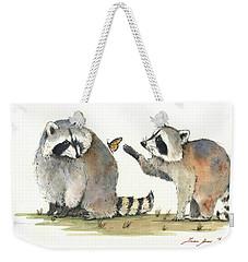 Two Raccoons Weekender Tote Bag