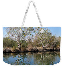 Weekender Tote Bag featuring the photograph Two Reflected by Laurel Powell