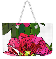 Two Rhododendrons Weekender Tote Bag by Jamie Downs