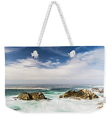 Weekender Tote Bag featuring the photograph Two Rocks In The Pacific Ocean by Jingjits Photography