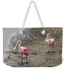 Two Roseate Spoonbills 2 Weekender Tote Bag by Carol Groenen