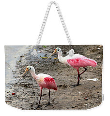 Two Roseate Spoonbills Weekender Tote Bag by Carol Groenen