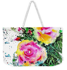 Two Roses And Their Buds Weekender Tote Bag