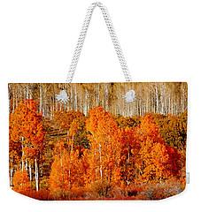 Two Rows Of Aspen Weekender Tote Bag