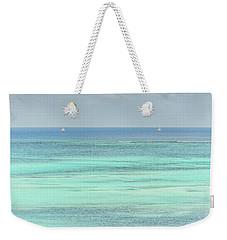 Two Sailboats In The Bahamas Weekender Tote Bag