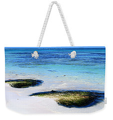 Two Seaweed Mounds On Punta Cana Resort Beach Weekender Tote Bag by Heather Kirk