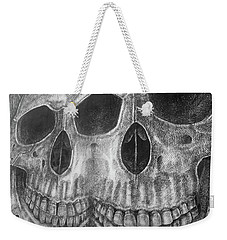 Weekender Tote Bag featuring the photograph Two Skulls ... by Juergen Weiss