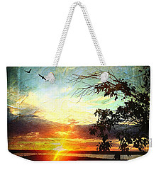Two Souls Flying Off Into The Sunset  Weekender Tote Bag