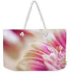 Weekender Tote Bag featuring the photograph Two Souls. Macro Gerbera by Jenny Rainbow