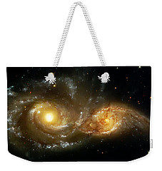 Two Spiral Galaxies Weekender Tote Bag by Jennifer Rondinelli Reilly - Fine Art Photography