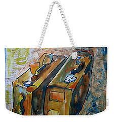 Two Suitcases With Financial Statements Weekender Tote Bag