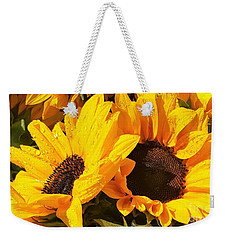 Two Sunflowers On The Rain By Jasna Gopic Weekender Tote Bag
