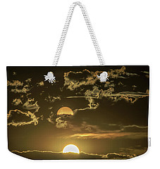 Two Suns Setting Weekender Tote Bag