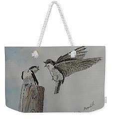 Two Swallows Weekender Tote Bag