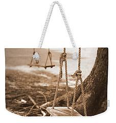 Two Swings - Sepia Weekender Tote Bag