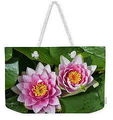 Weekender Tote Bag featuring the photograph Two Together by Shirley Mitchell