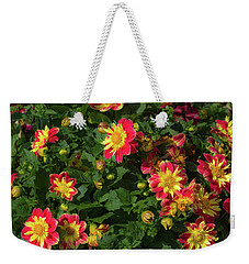 Two Tone Dahlias Weekender Tote Bag