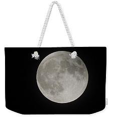 Two-tone Gray Moon Weekender Tote Bag