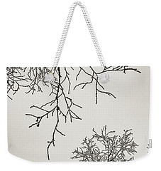 Two Trees Reaching Towards Each Other Weekender Tote Bag