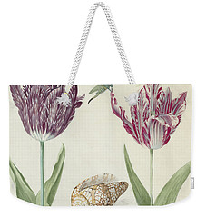 Two Tulips A Shell And A Grasshopper Weekender Tote Bag