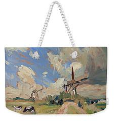 Two Windmills Weekender Tote Bag by Nop Briex