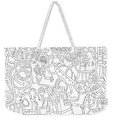 Two Worlds Weekender Tote Bag