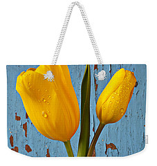 Two Yellow Tulips Weekender Tote Bag by Garry Gay