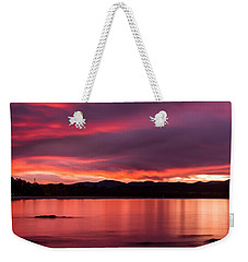 Twofold Bay Sunset Weekender Tote Bag by Racheal  Christian