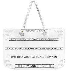 Twombly Weekender Tote Bag by Thomasina Durkay