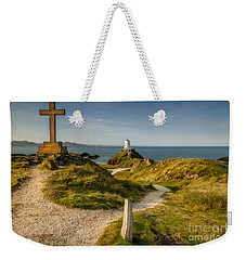 Weekender Tote Bag featuring the photograph Twr Mawr Lighthouse by Adrian Evans