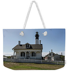 Weekender Tote Bag featuring the photograph Tybee Island Lighthouse by Kim Hojnacki
