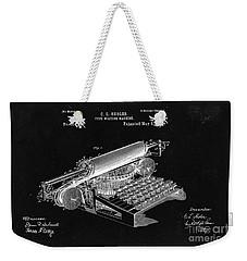 Type Writing Machine Patent From 1896  - Black Weekender Tote Bag