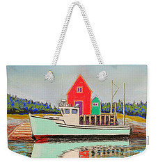 Typical Fishing Vessel Nova Scotia  Weekender Tote Bag by Rae  Smith