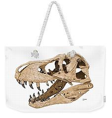 Tyrannosaurus Skull Weekender Tote Bag