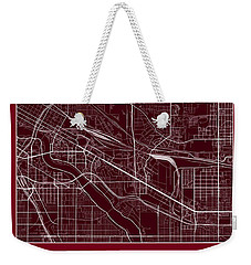 U Of M Street Map - University Of Minnesota Minneapolis Map Weekender Tote Bag