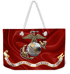U. S.  Marine Corps - U S M C Eagle Globe And Anchor Over Corps Flag Weekender Tote Bag