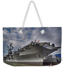 U S S  Intrepid     Weekender Tote Bag by Dyle Warren