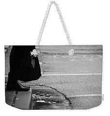 Weekender Tote Bag featuring the photograph U Stopped Me On My Tracks  by Empty Wall