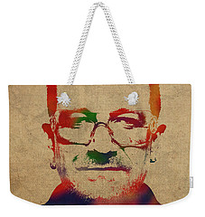 U2 Bono Watercolor Portrait Weekender Tote Bag