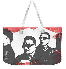 U2 Graffiti Tribute Weekender Tote Bag