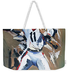 Weekender Tote Bag featuring the painting Uga From by John Jr Gholson