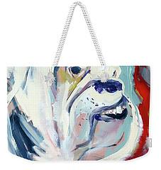 Weekender Tote Bag featuring the painting Ugga Side by John Jr Gholson